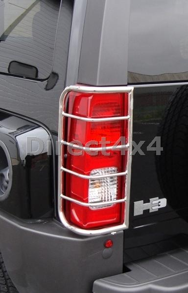 hummer h3 stainless steel tail light protection guards. Black Bedroom Furniture Sets. Home Design Ideas