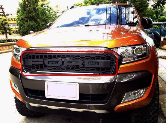 ford ranger 2016 front grille mesh raptor appearance. Black Bedroom Furniture Sets. Home Design Ideas