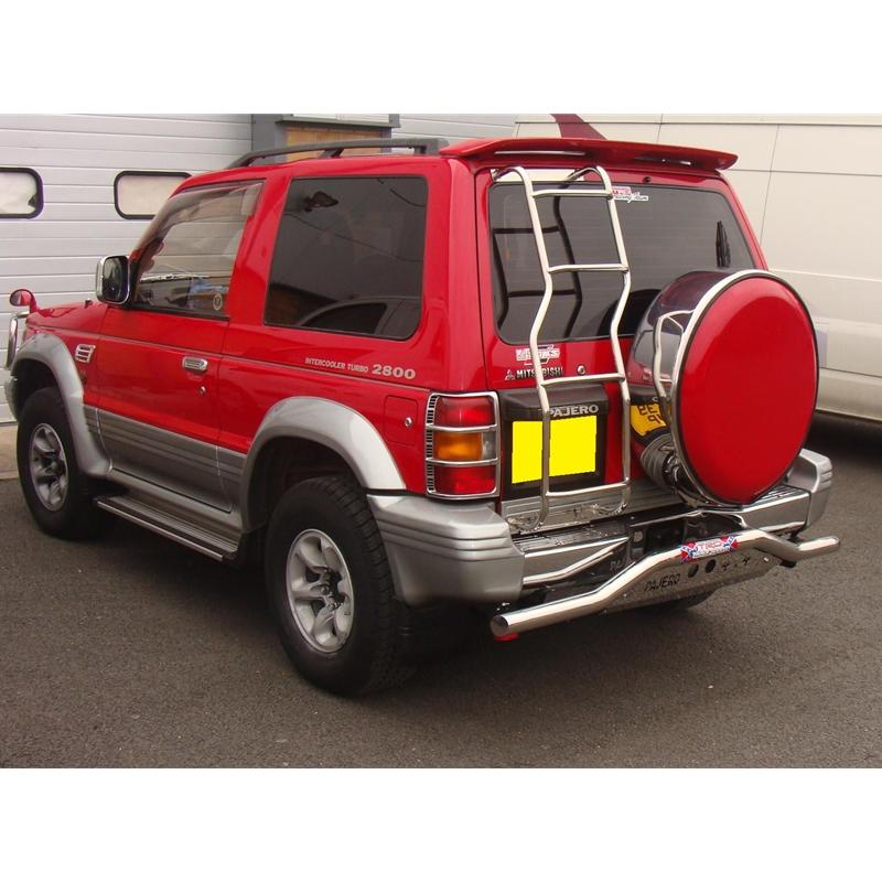 Mitsubishi Pajero Exterior: Mitsubishi Pajero Shogun 91-99 Rear Bar Bumper Skid Sets
