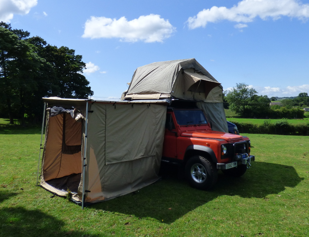 expedition awning outdoor tent for 4x4s vans and motorhomes boxed 2m x 2 5m ebay. Black Bedroom Furniture Sets. Home Design Ideas
