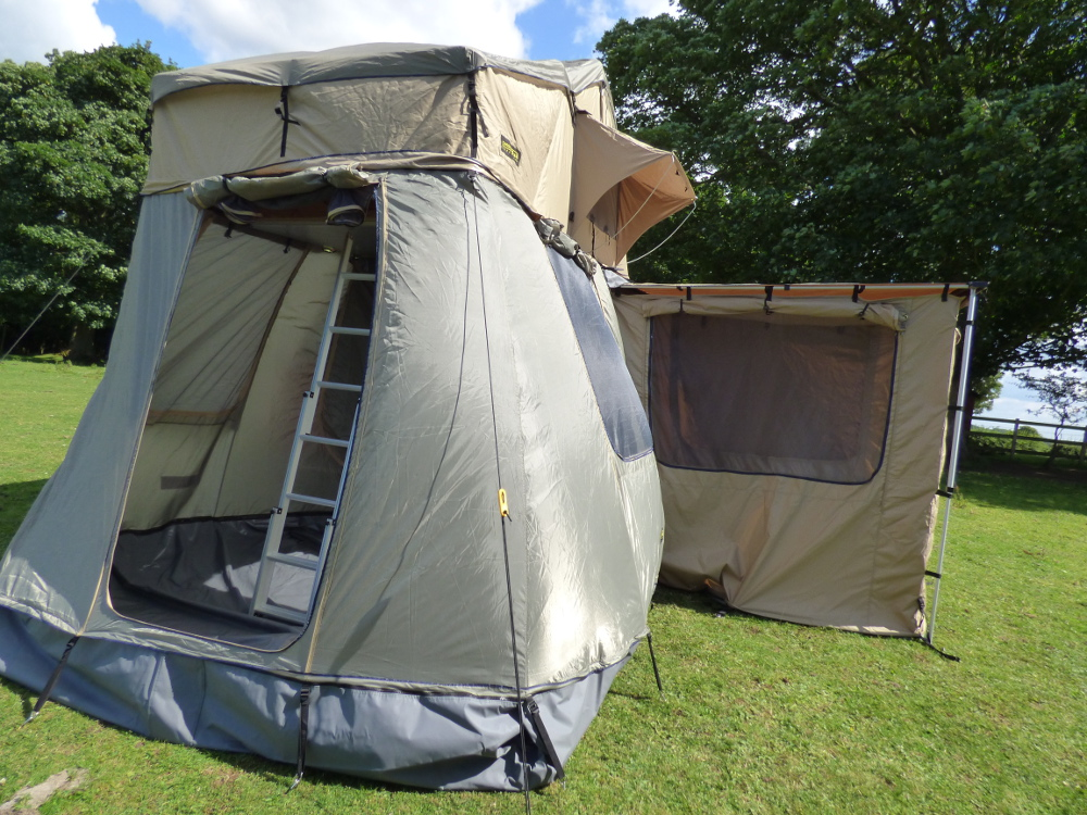 Land Rover Defender 4 Man Roof Tent Full Roof Rack