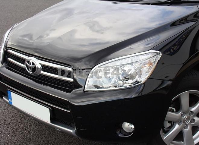 toyota rav4 2006 2010 chromed abs head light surrounds appearance replacement ebay. Black Bedroom Furniture Sets. Home Design Ideas