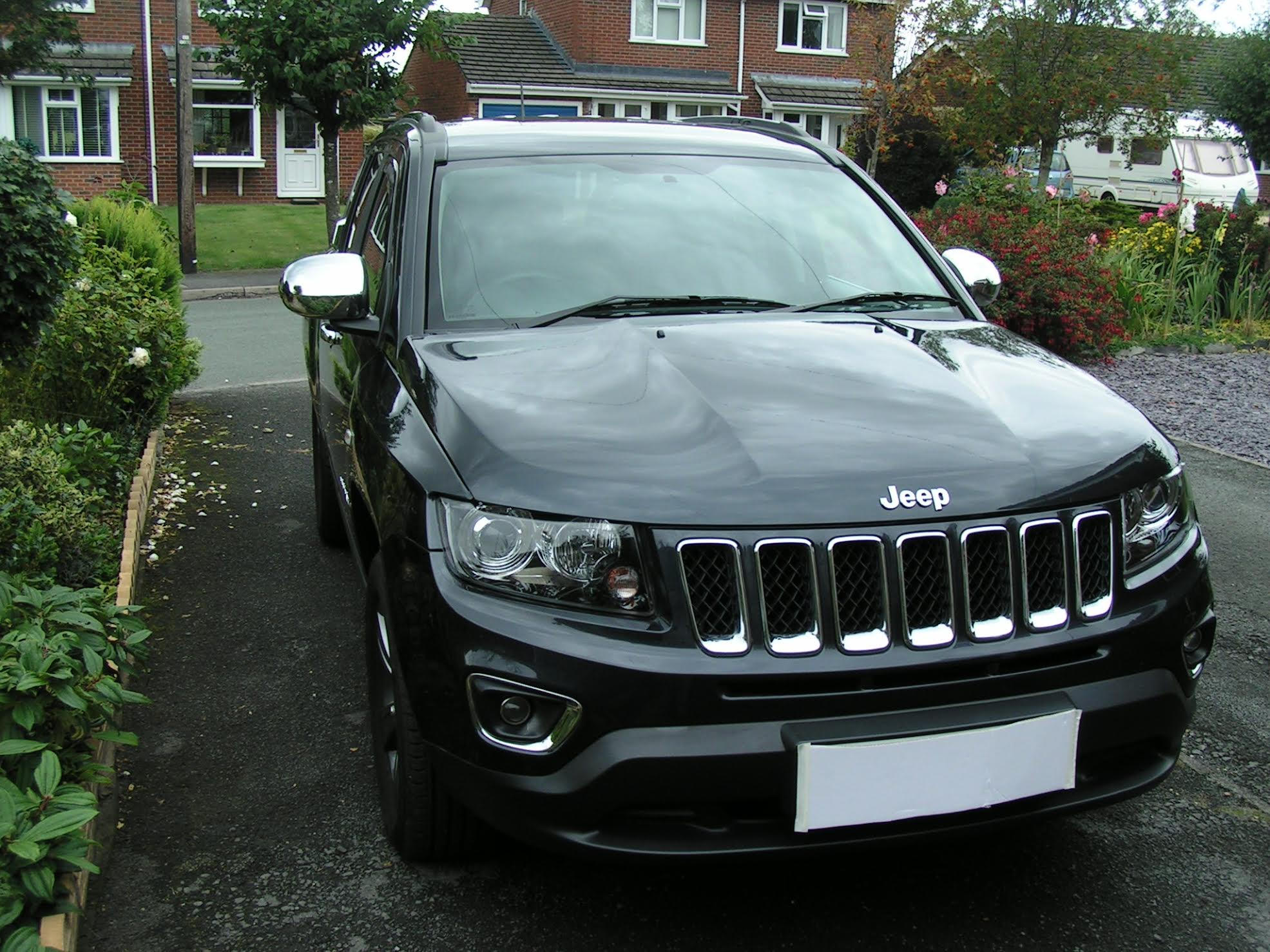 jeep compass pair chromed door mirror covers wing mirrors. Black Bedroom Furniture Sets. Home Design Ideas