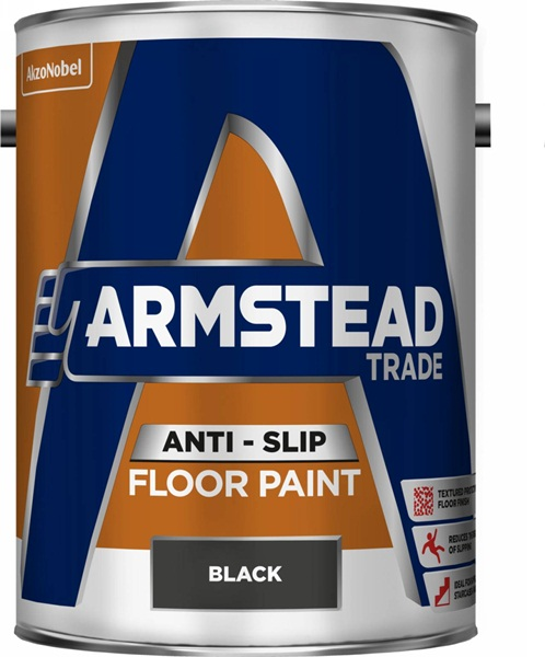 Armstead 5218565 Anti Slip Floor Paint Black 5 Litre Interior Exterior Use