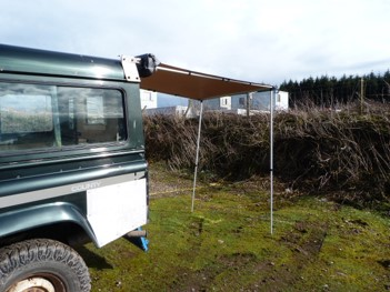 1.4M x 2M Pull Out Awning Vehicles Roof Tents Racks Awning ...