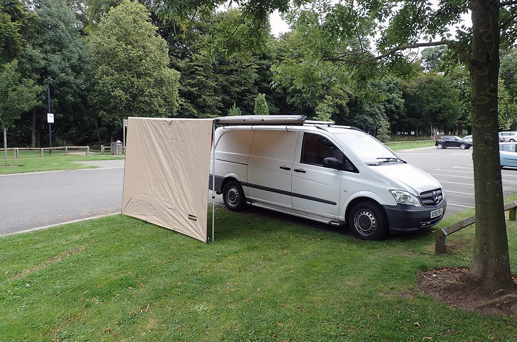 2.0M X 1.8M Front Awning Extension For Pull Out Exterior ...