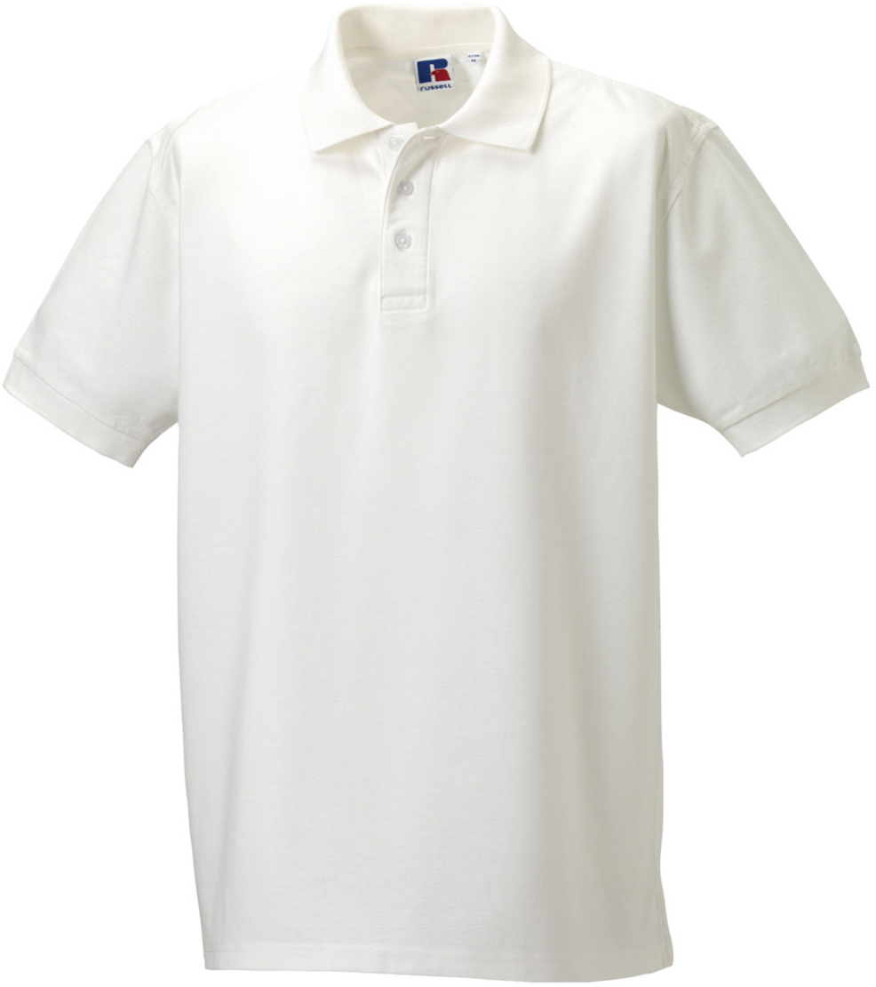 Russell men adults 3 button flat knit cuffs neck tape for 3 button polo shirts