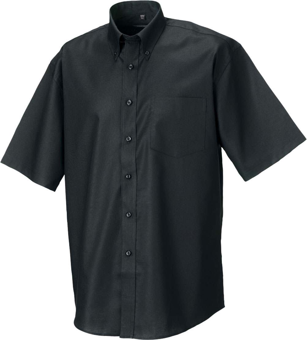 Black t shirt v shape - Russell Men Adults Button Down Collar V Shaped