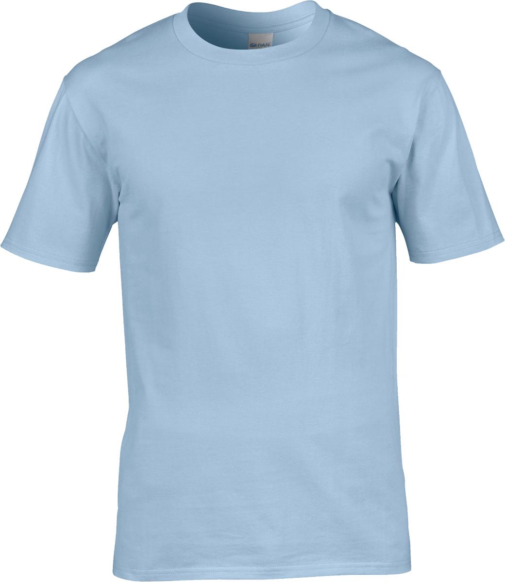 Gildan Men Adults Casual Wear T-Shirt Double Needle Collar Premium Ringspun Tee