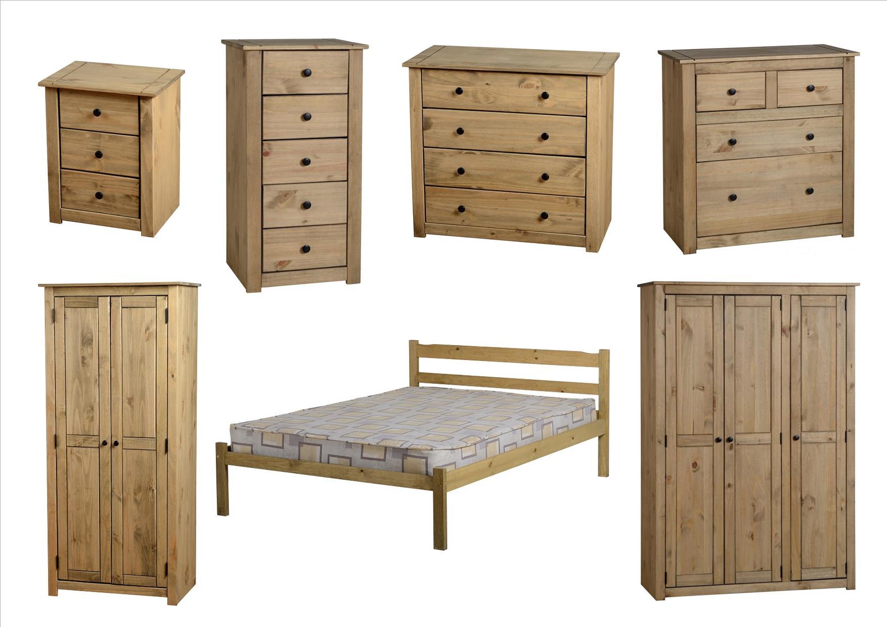 panama bedroom furniture bedside drawers wardrobes beds pine