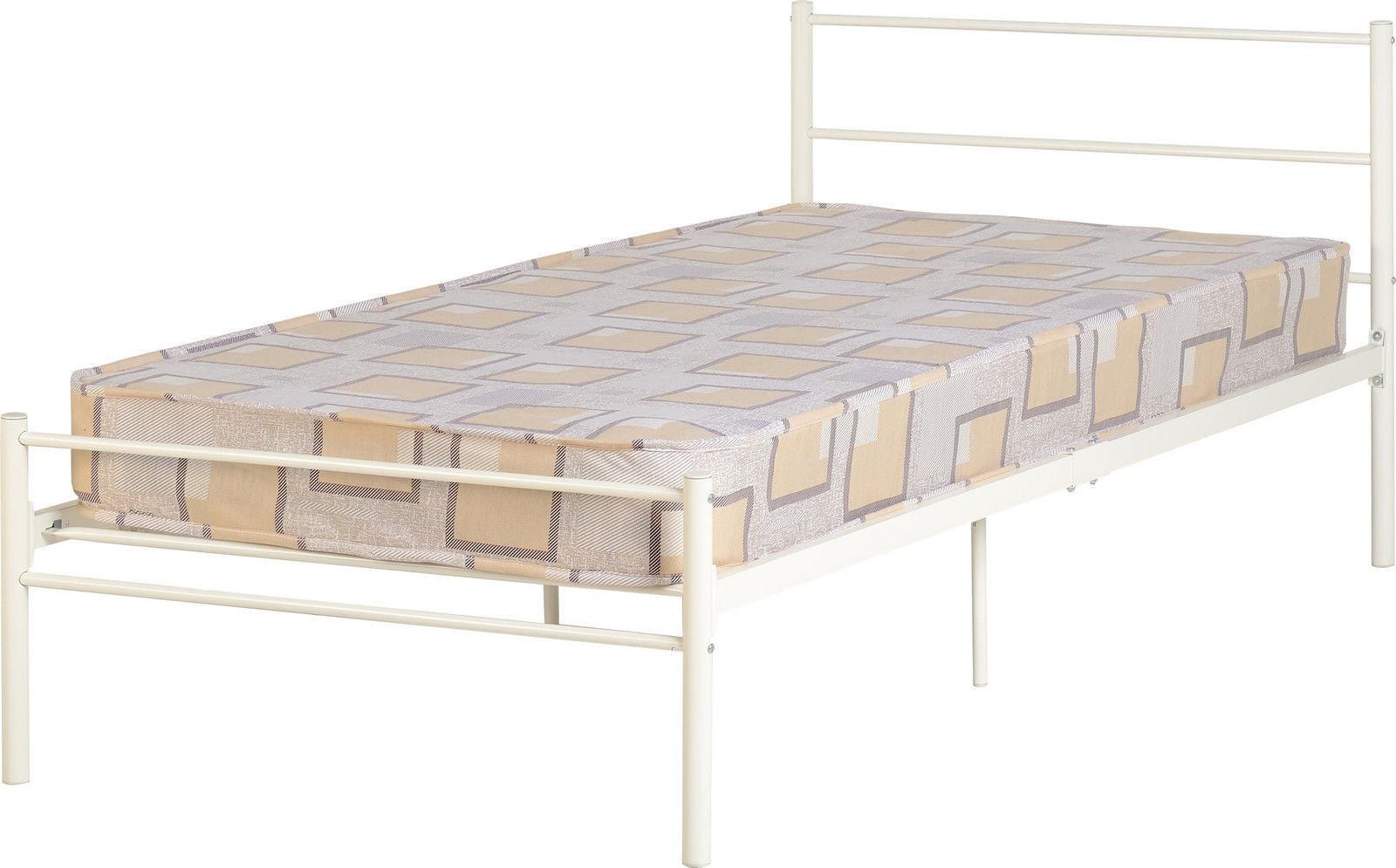 Details about Devon Metal Single Bed 3ft 90cm - White