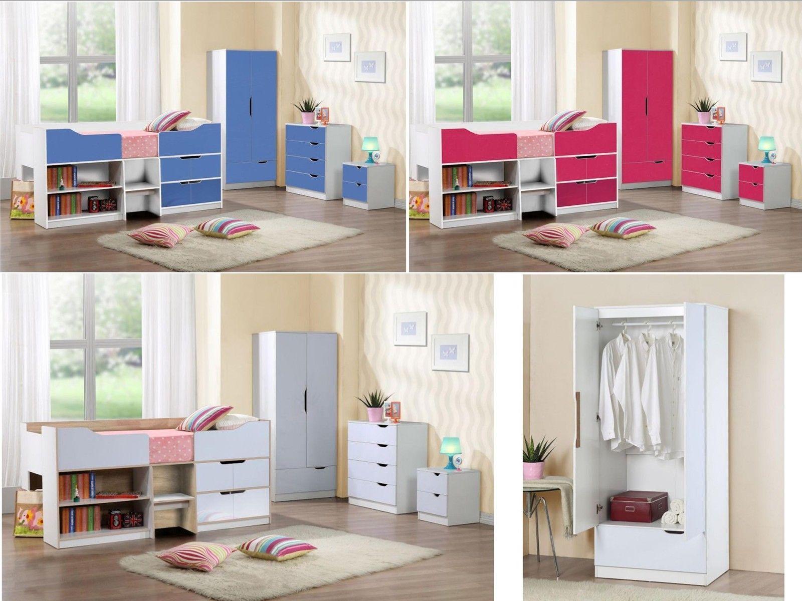 birlea paddington childrens gloss bedroom furniture white oak