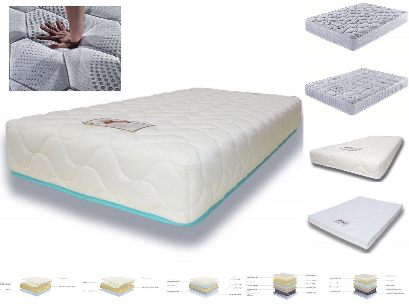 Birlea Mattresses Memory Foam Or Pocket Sprung Hypoallergenic All Sizes Ebay