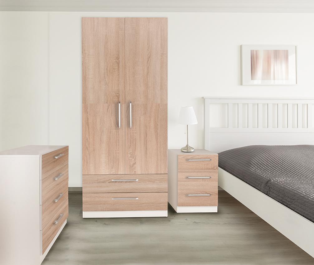Euston White Oak Bedroom Furniture Wardrobes Bedside Drawers Ebay