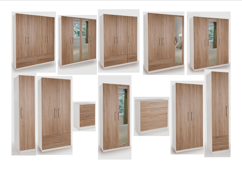 Euston White Oak Bedroom Furniture Wardrobes Bedside Drawers Sets Quality