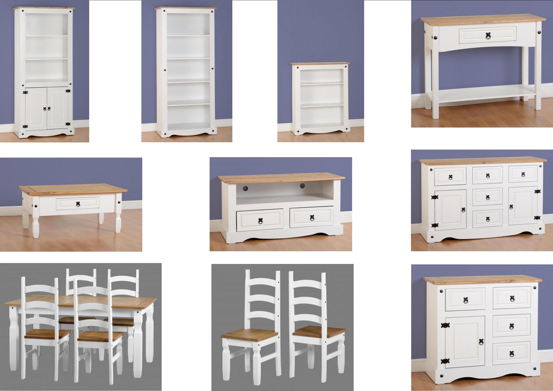 Seconique Corona White Living Room Furniture Range Bookcases