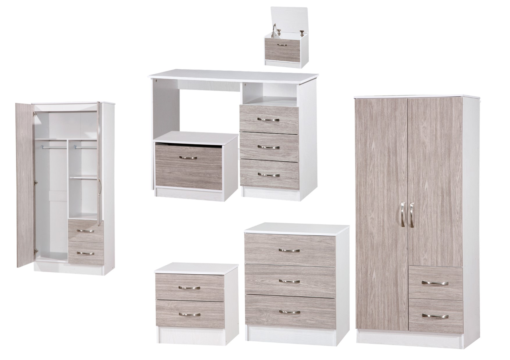 Marina grey white high gloss bedroom furniture sets for High gloss bedroom furniture