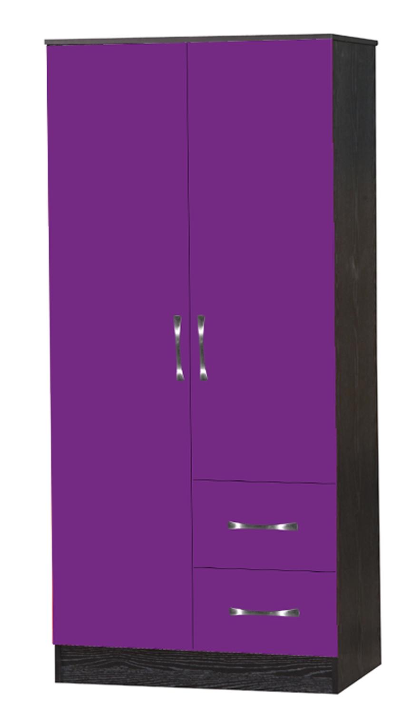 Purple High Gloss Bedroom Furniture Marina Purple Black High Gloss Bedroom Furniture Set Wardrobe