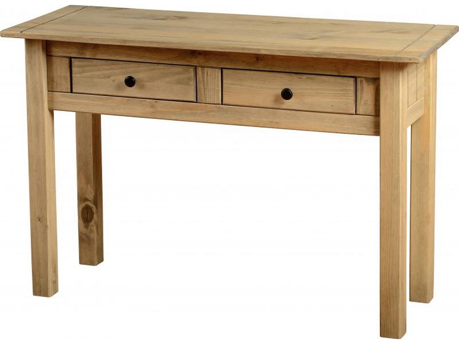 Panama 2 drawer console table solid waxed pine seconique furniture ebay - Pine sofa table with drawers ...