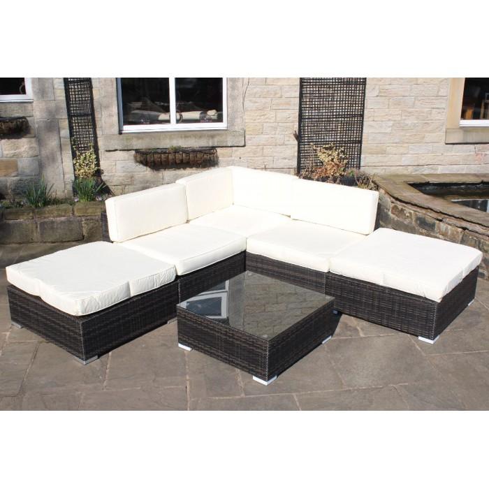 Rattan Furniture Corner Sofa Ebay: All Weather Rattan Outdoor Garden Furniture Corner Sofa