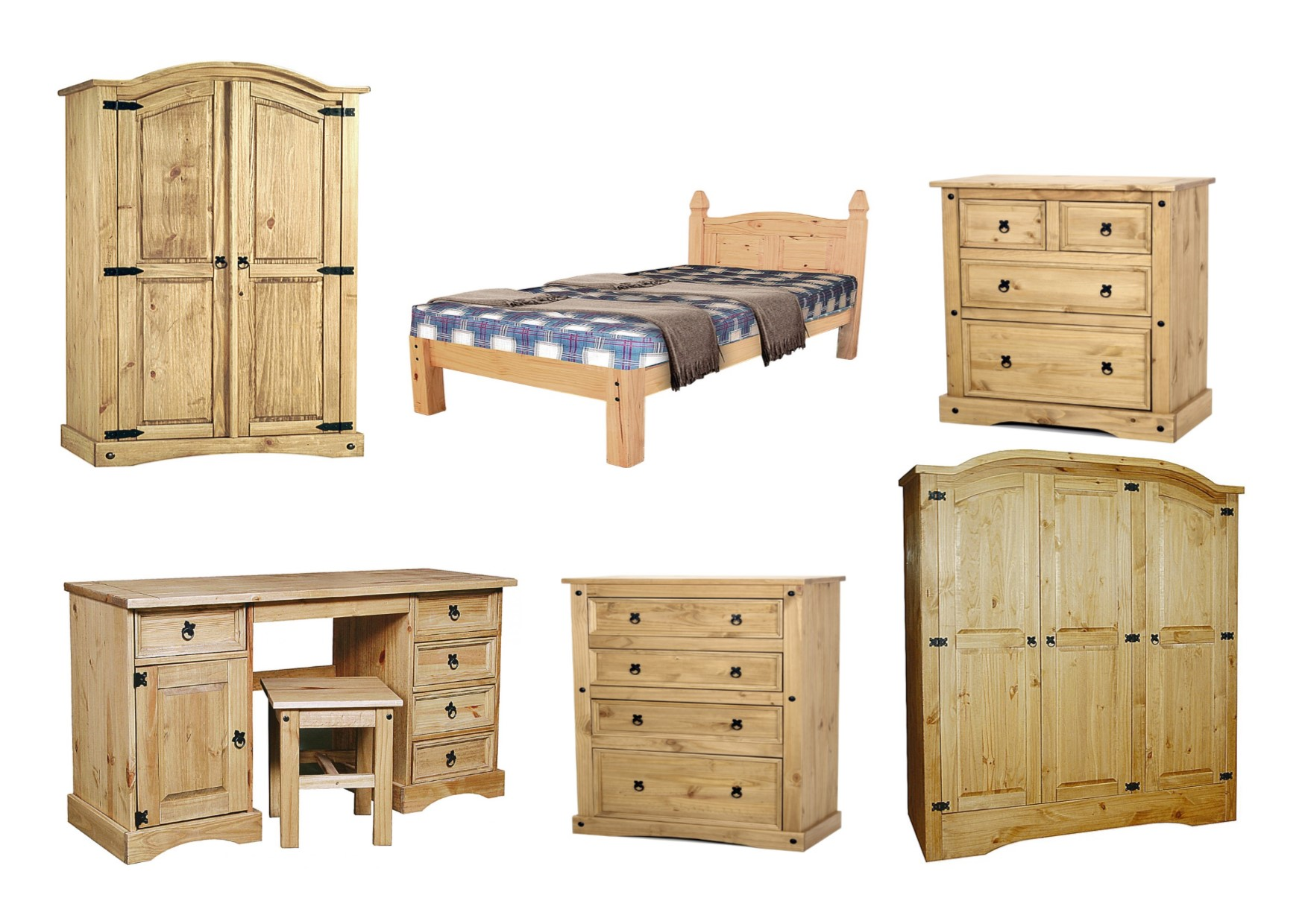 corona solid distressed waxed pine bedroom furniture. Black Bedroom Furniture Sets. Home Design Ideas