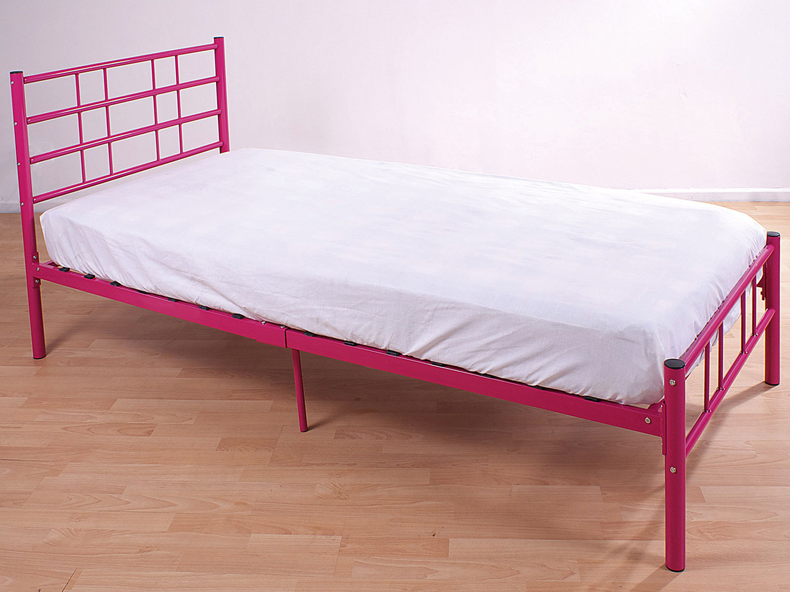 3ft single bed frame black blue pink silver white for Cheap single mattress