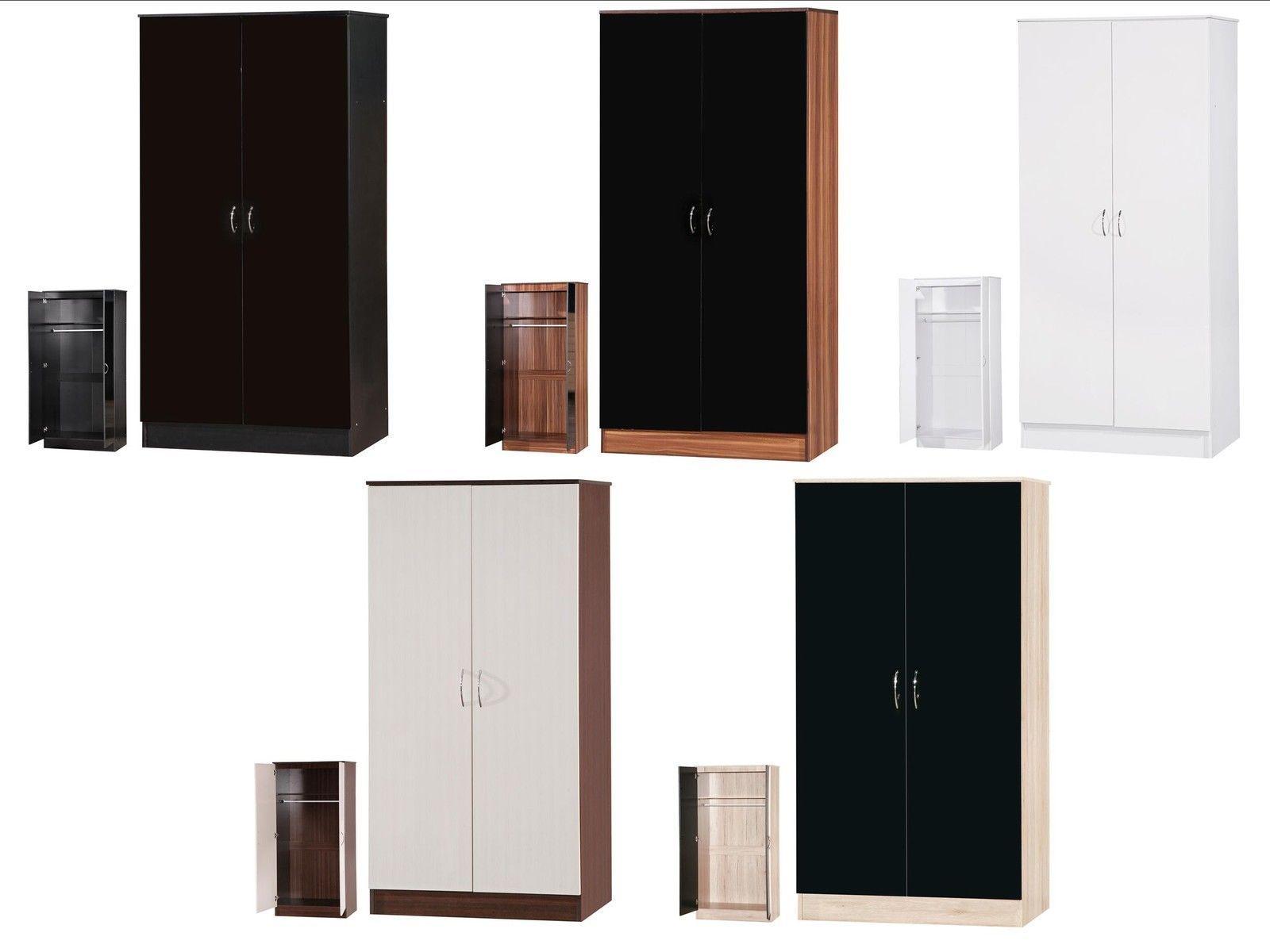 Alpha High Gloss Wardrobes 2 Or 3 Door Mirrored Or Sliding Bedroom Furniture Ebay