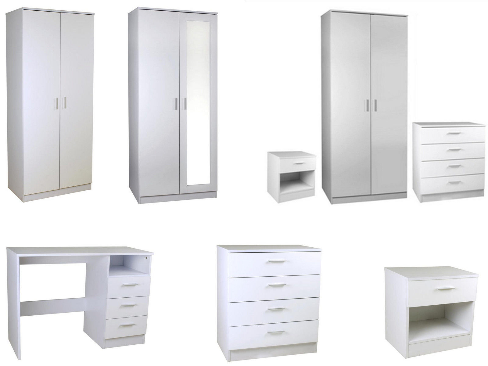 New caspian high gloss white bedroom furniture sets full for High gloss bedroom furniture