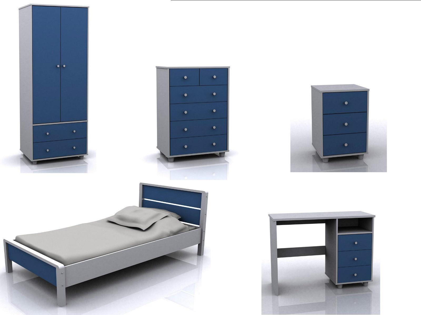 Miami Bedroom Furniture Boys Blue Bedroom Furniture Miami Range Wardrobe Bed Chest