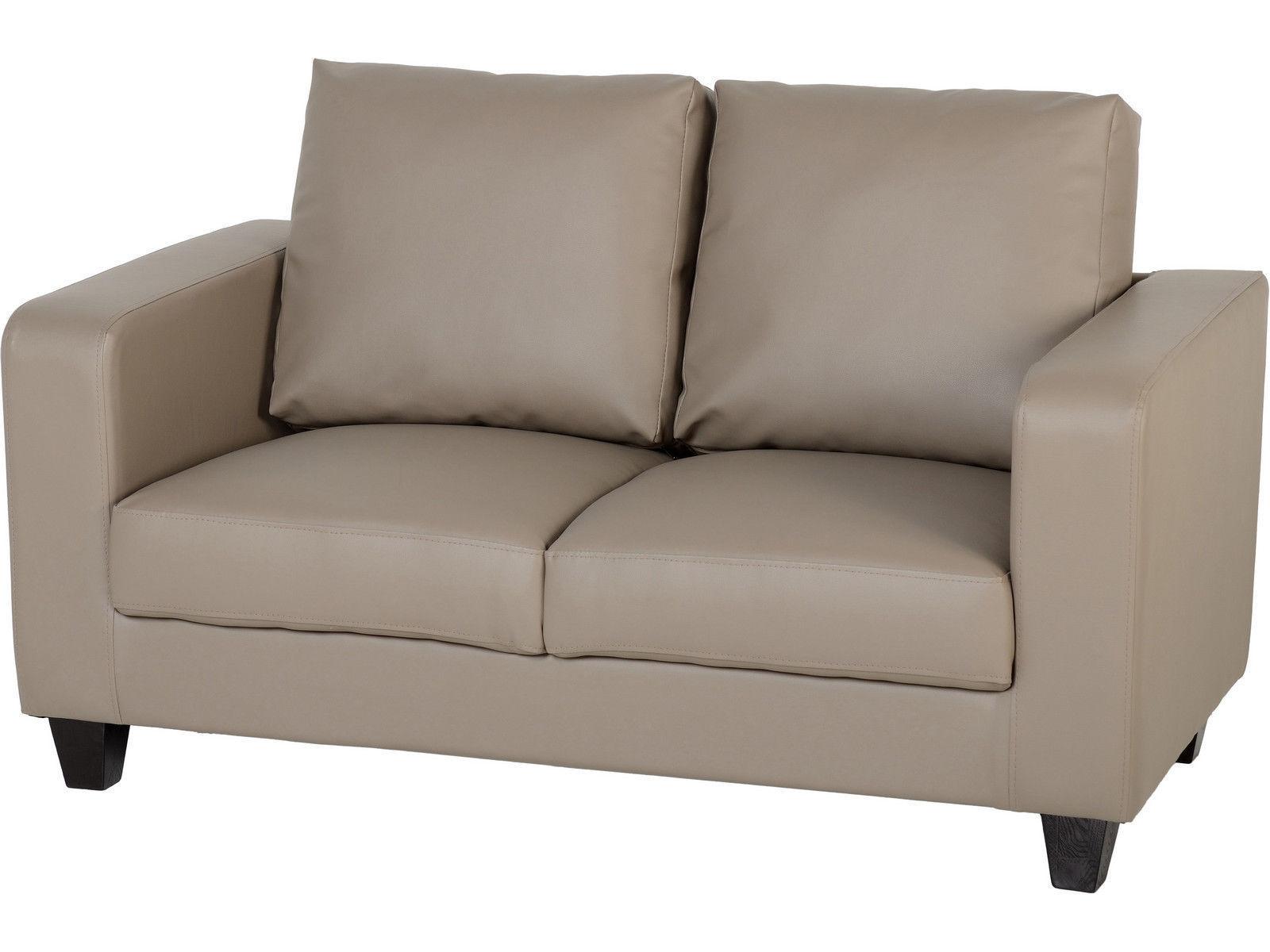 Seconique Tempo 2 Seater Sofa In A Box Taupe Faux