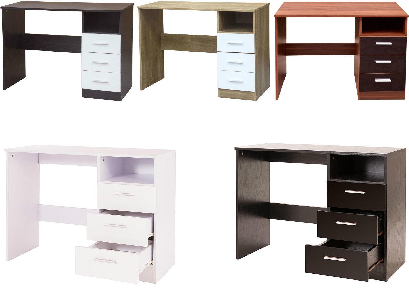 Caspian Supreme High Gloss Drawer Desk Dressing Table Black - Black gloss dressing table