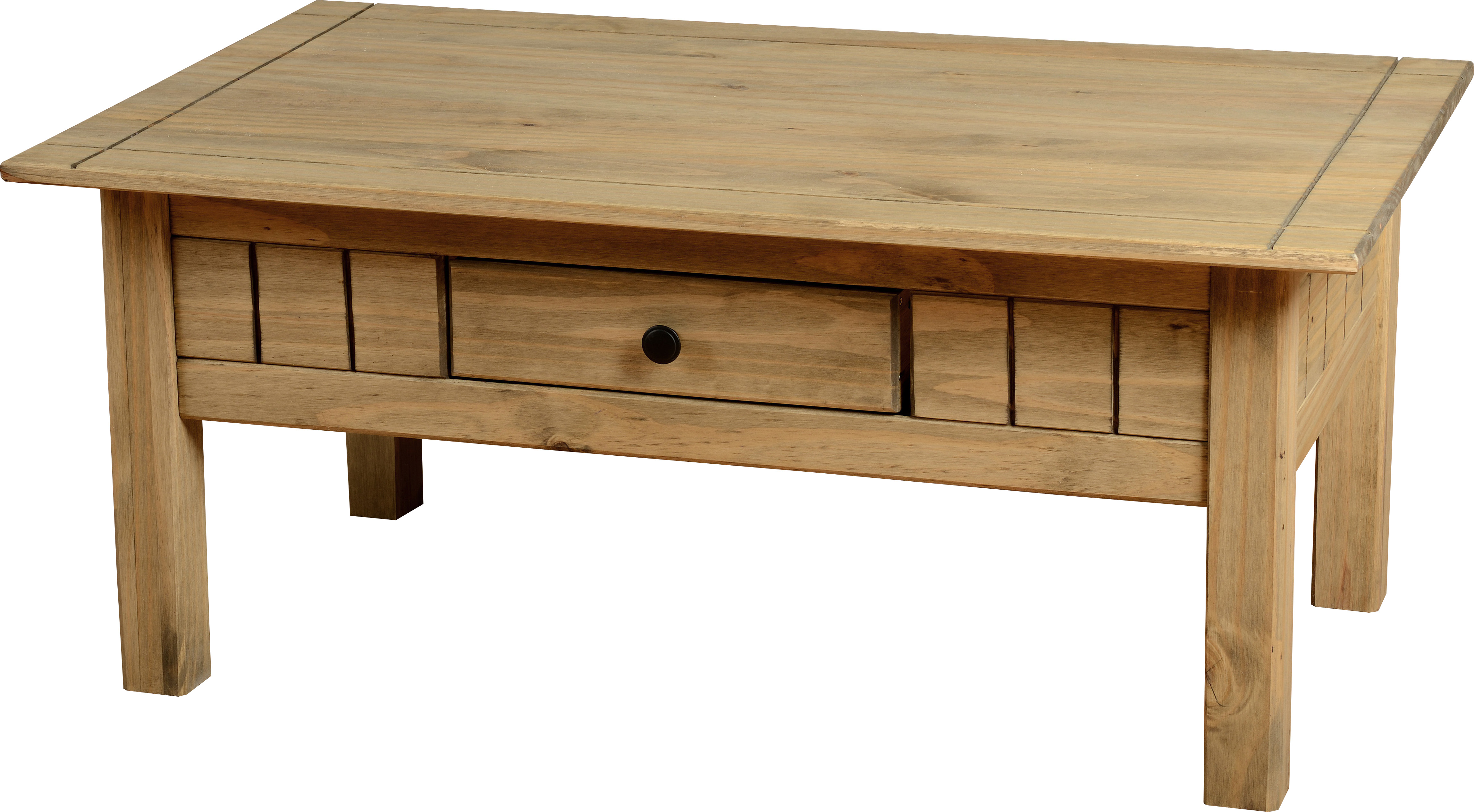 Mexican country farmhouse waxed solid pine coffee table ebay for Pine farmhouse coffee table