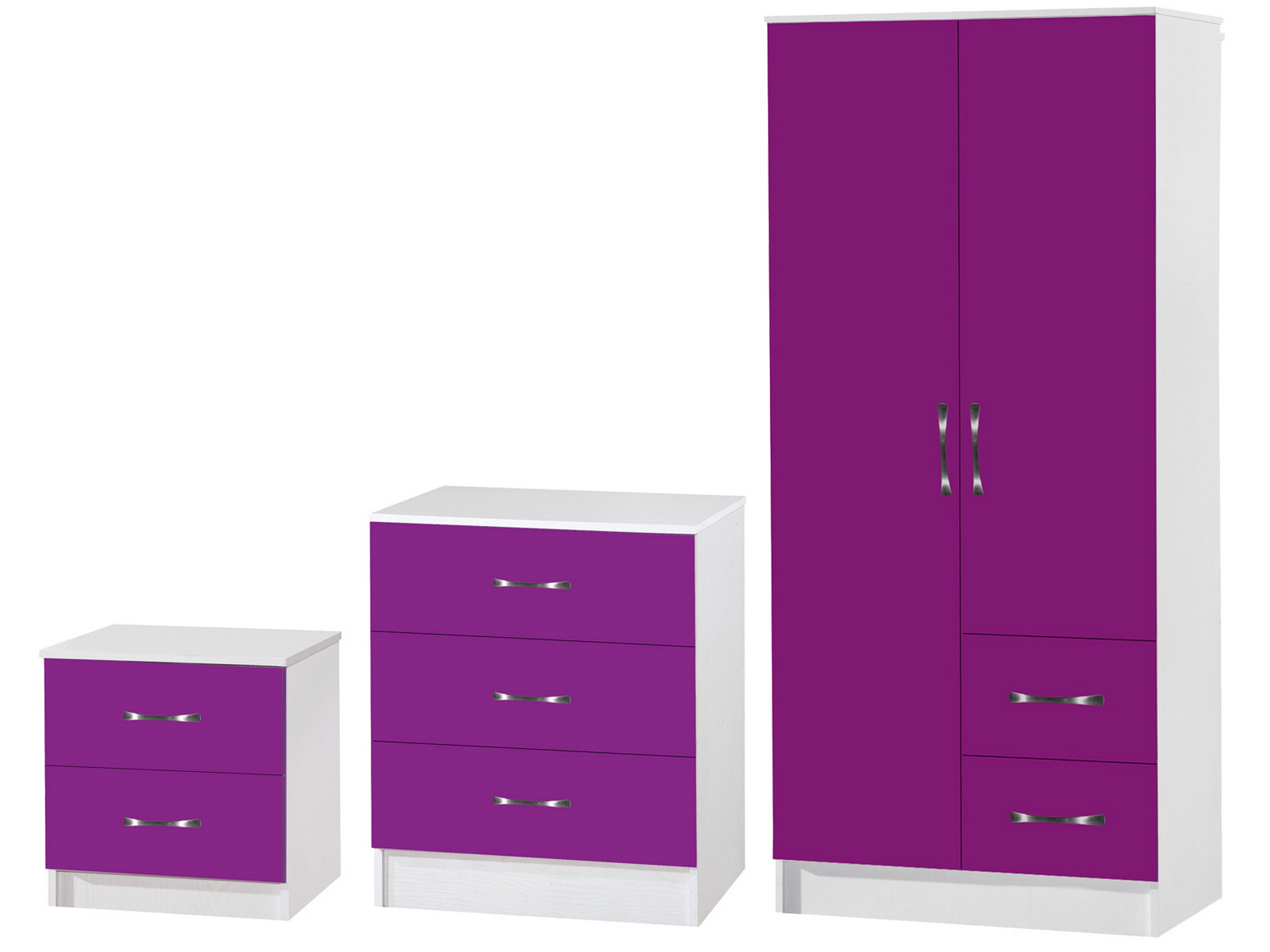 purple white 3 bedroom furniture set marina high gloss range ebay