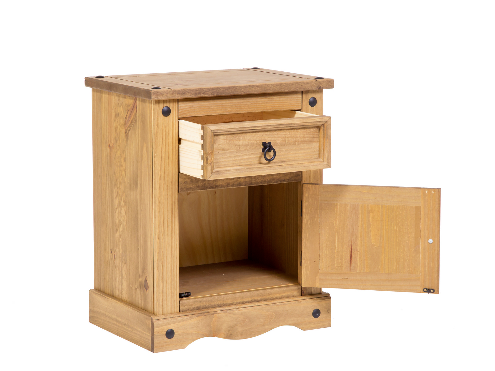Premium Quality Corona Waxed Solid Mexican Pine Bedside