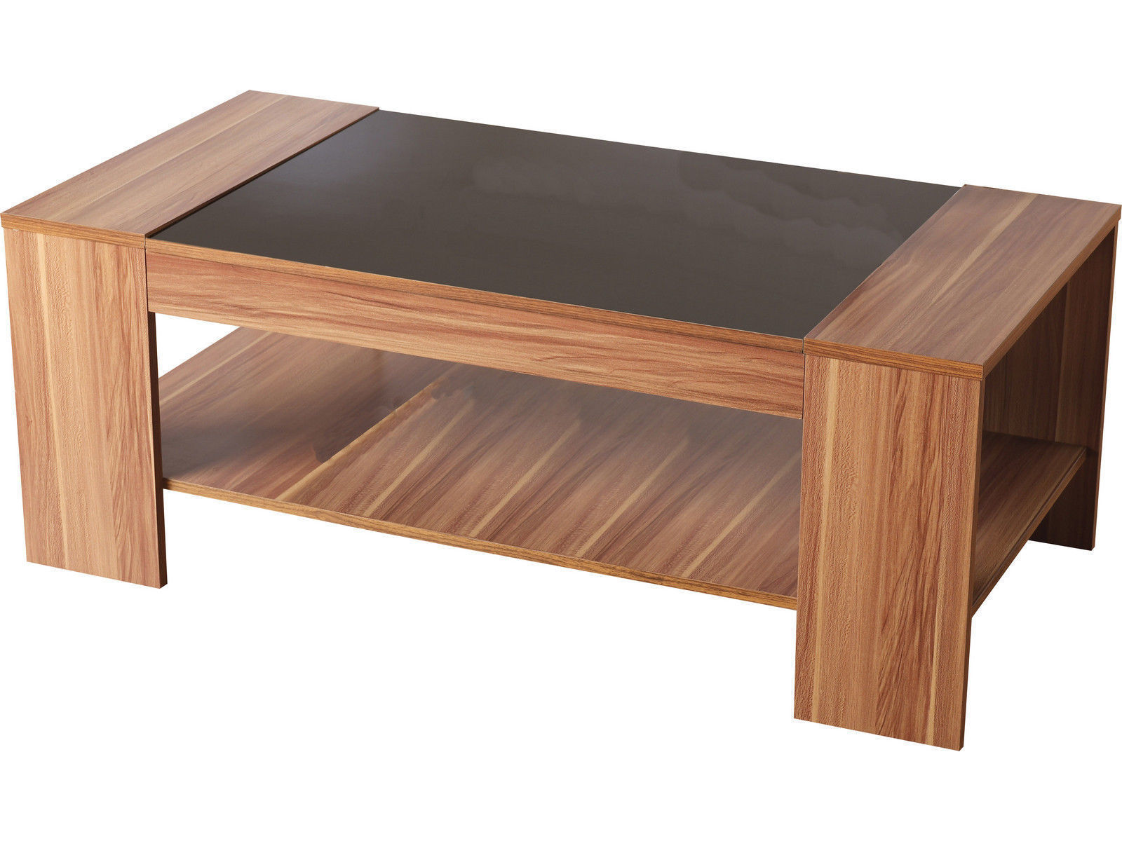 Black Gloss Walnut Veneer Coffee Table Hollywood By Seconique Ebay