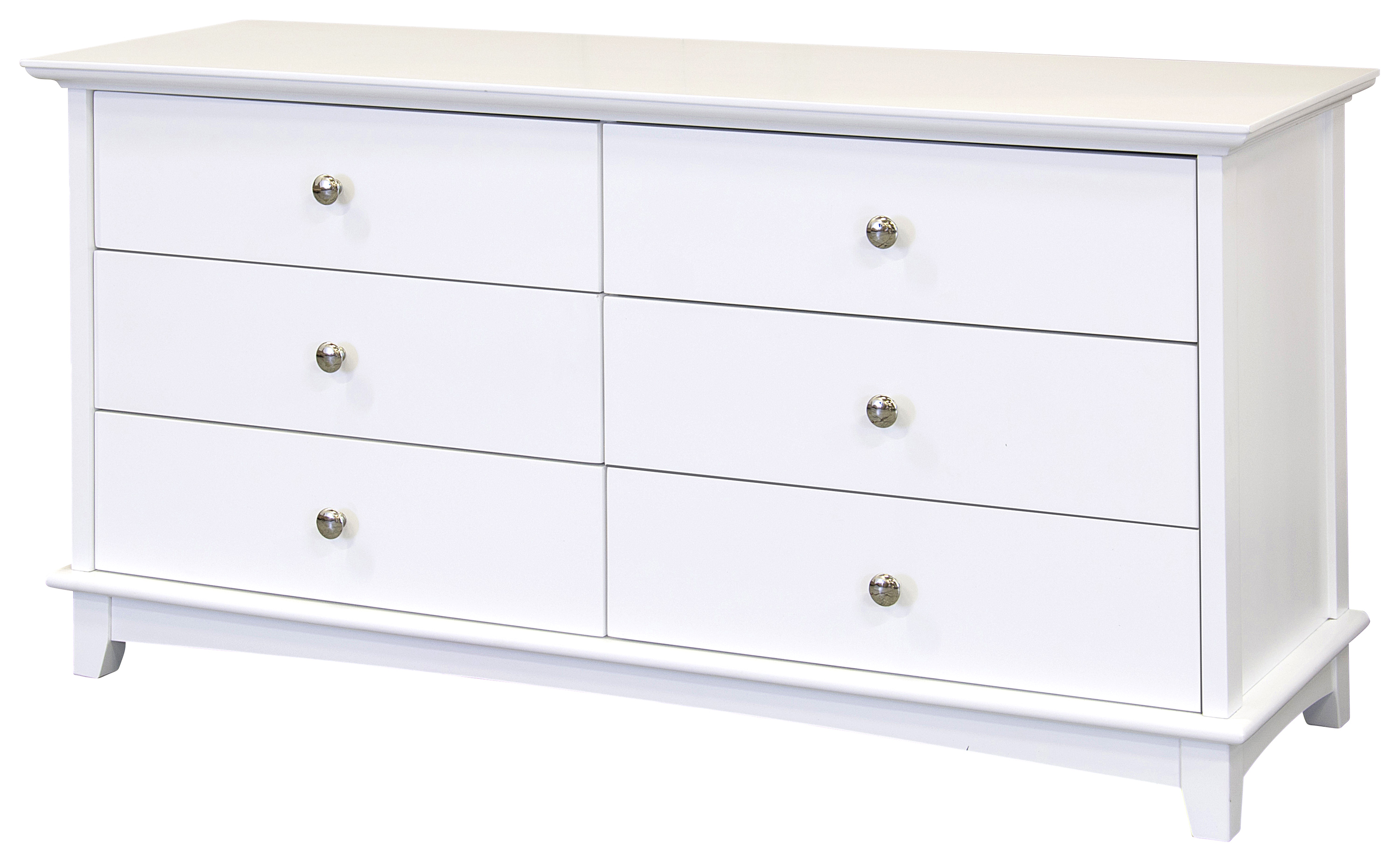 Toulouse drawer chest white painted solid wood