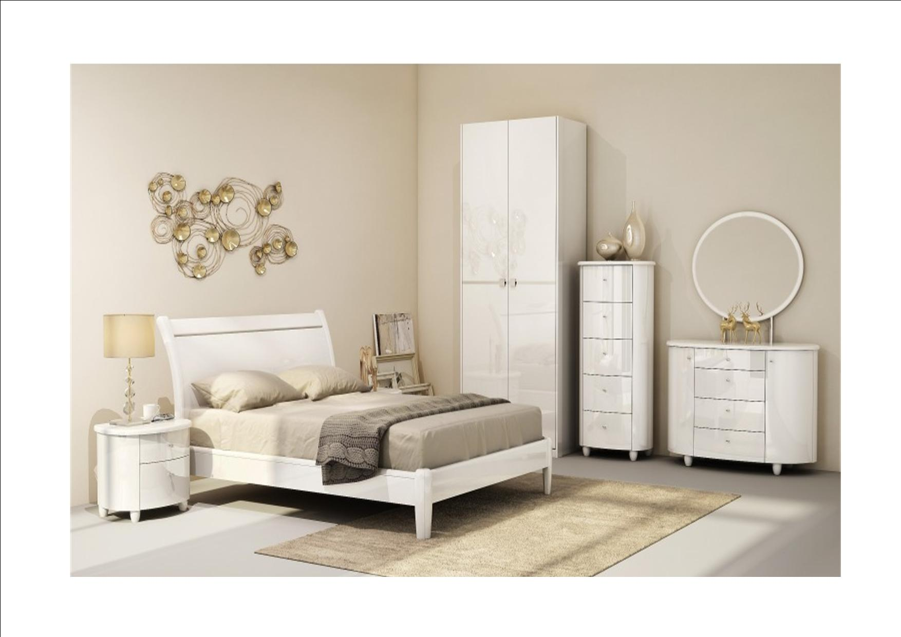 birlea aztec white gloss bedroom furniture wardrobe chest dressing