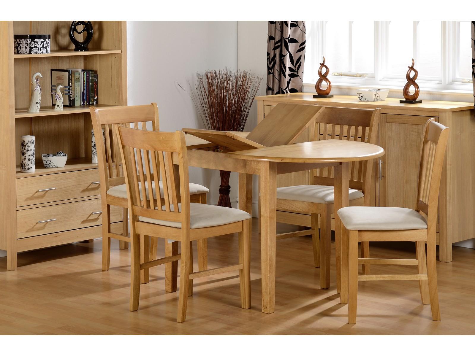 seconique oxford oak extending dining set table 4