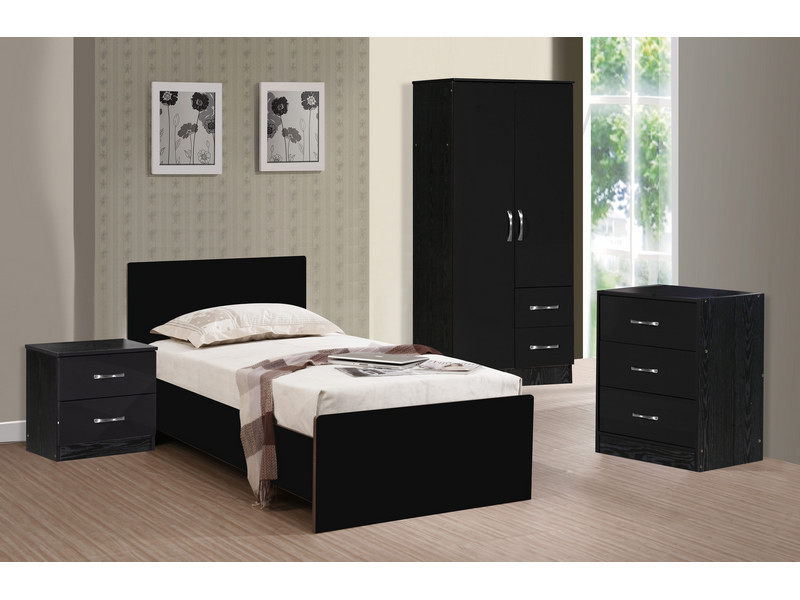 gloss 3 piece bedroom furniture set marina high gloss range 17379 p