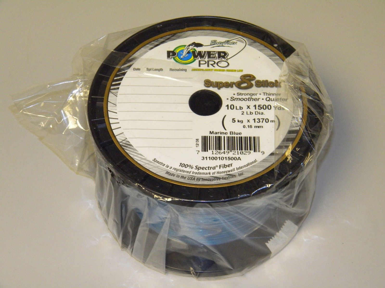 Power pro usa super slick 8 braid fishing line 10lb 1500yd for Power pro braided fishing line