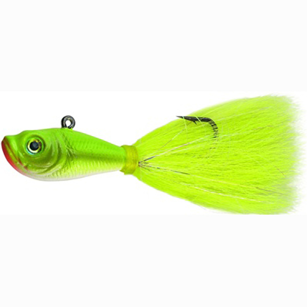Spro prime bucktail jig crazy chartreuse fluke 3 4oz lure for Chartreuse fishing lures