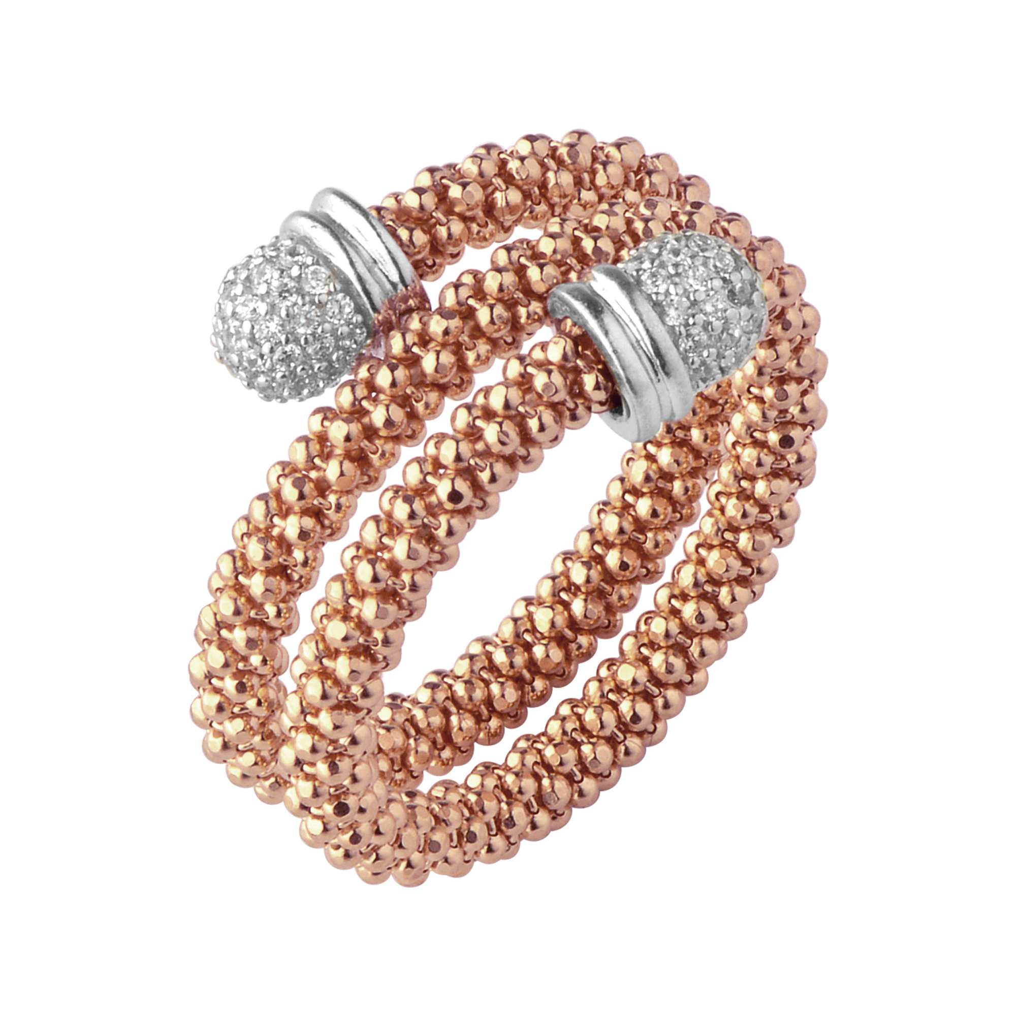 Links Of London Womens Star Dust Rose Gold Plate Wrap Ring
