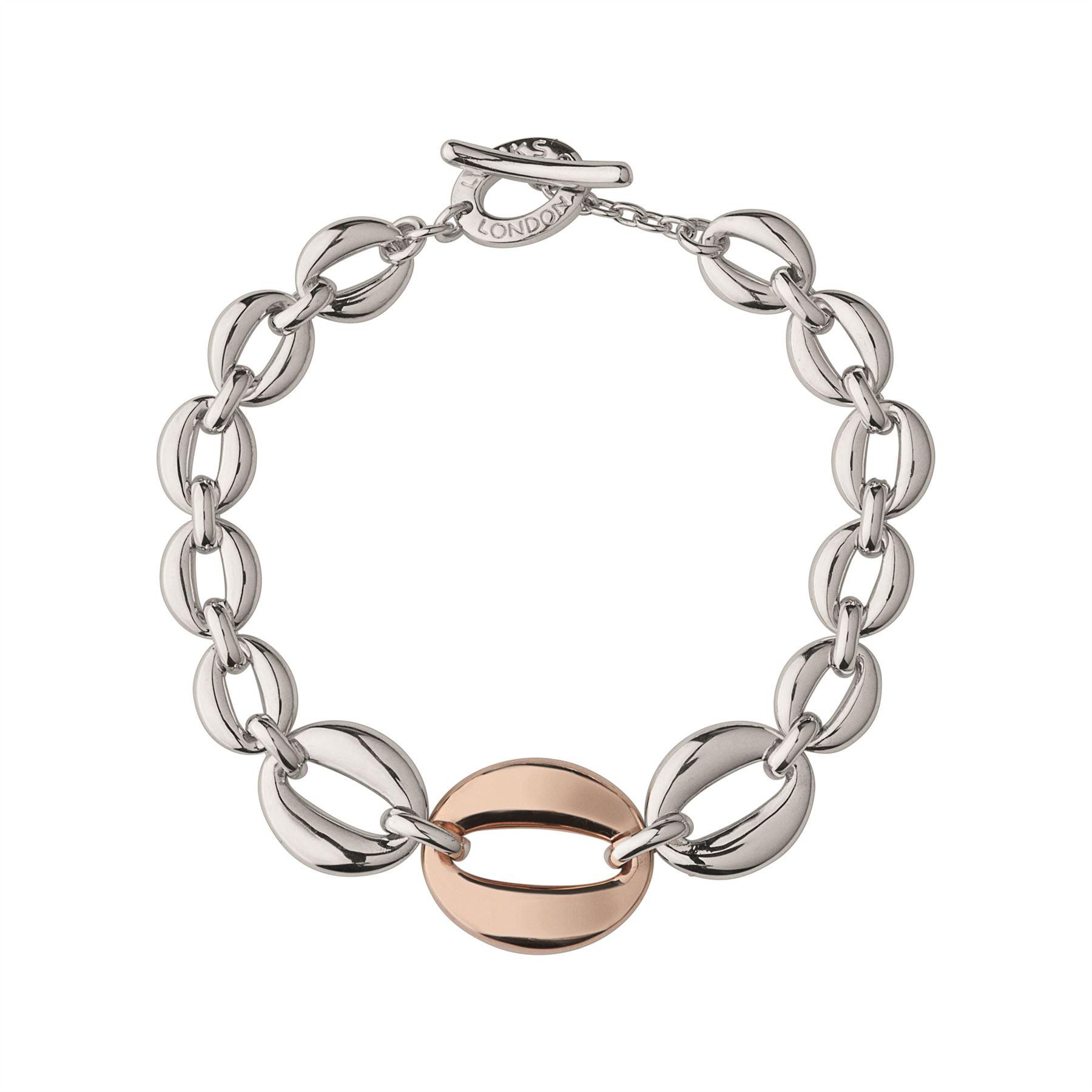 Links Of London Womens Marina Chain Bracelet Rose Gold