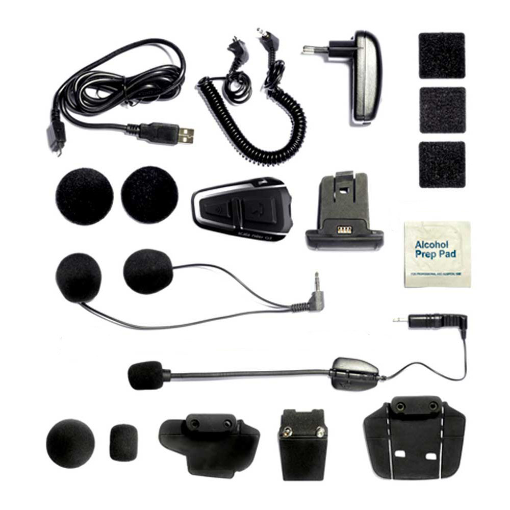 cardo scala q3 solo motorcycle motorbike bluetooth intercom system set btsrq3 ebay. Black Bedroom Furniture Sets. Home Design Ideas