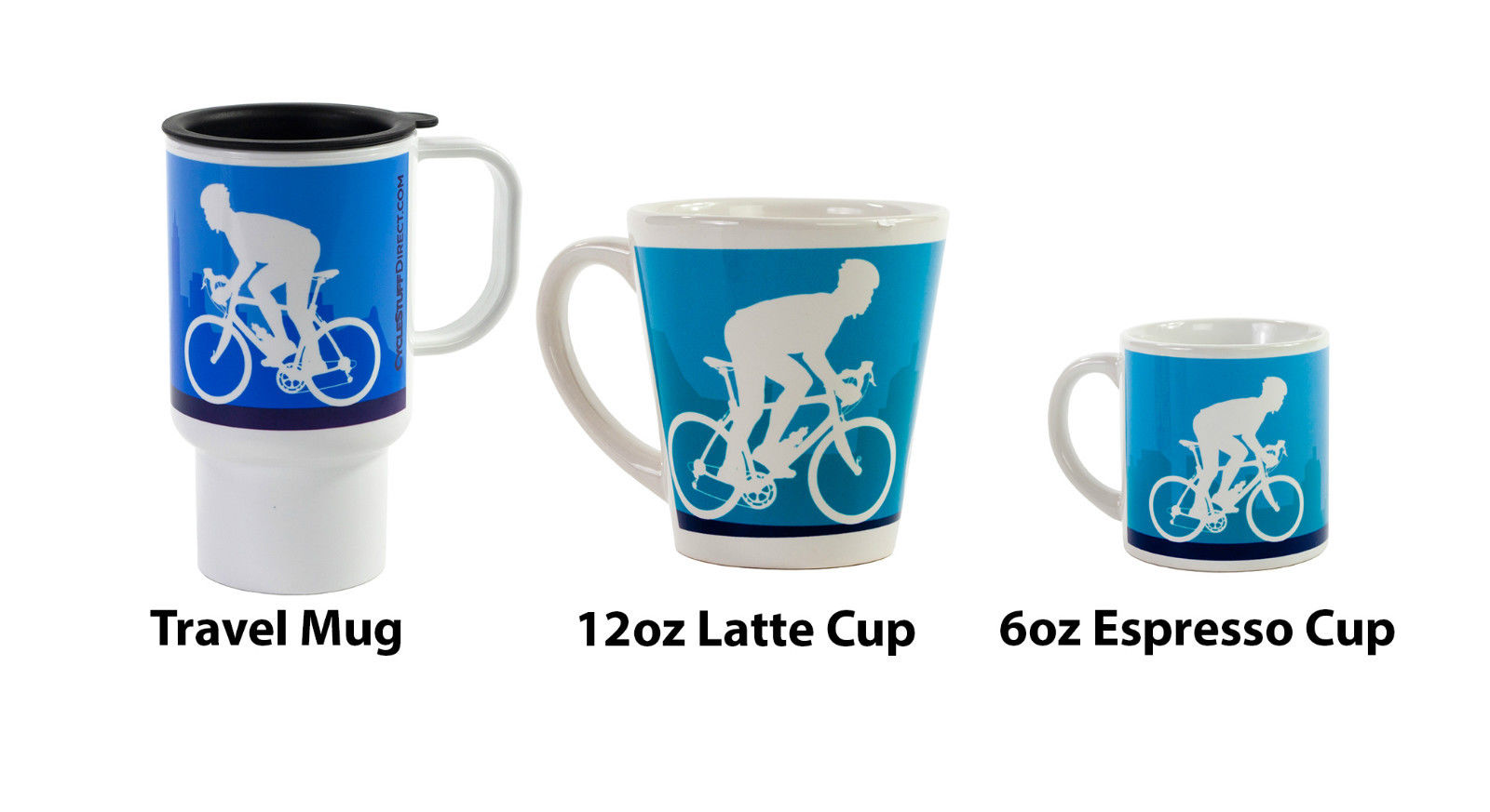 New Polymer Travel Mug Cycling Blue Roadies Design Free P