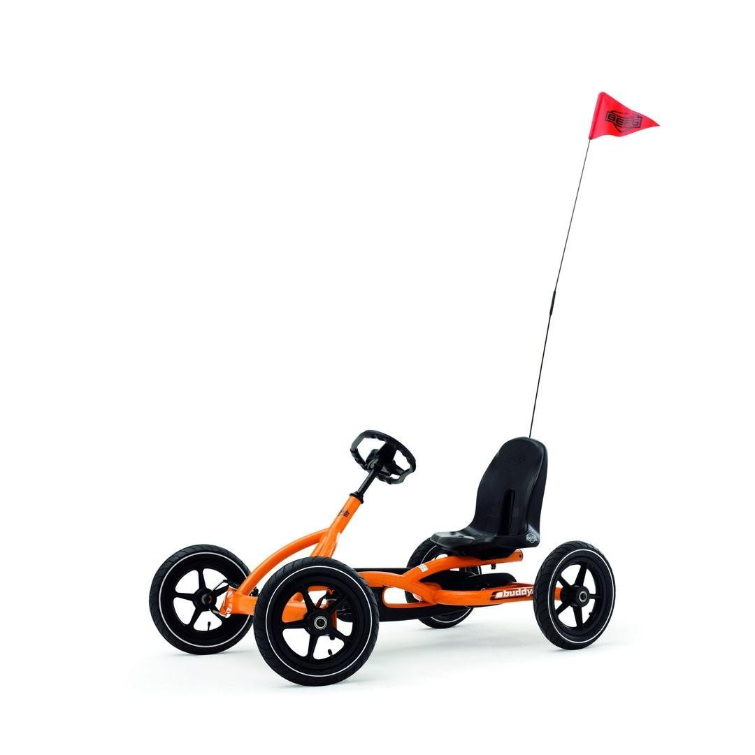 berg buddy go kart orange with free safety flag worth ebay. Black Bedroom Furniture Sets. Home Design Ideas