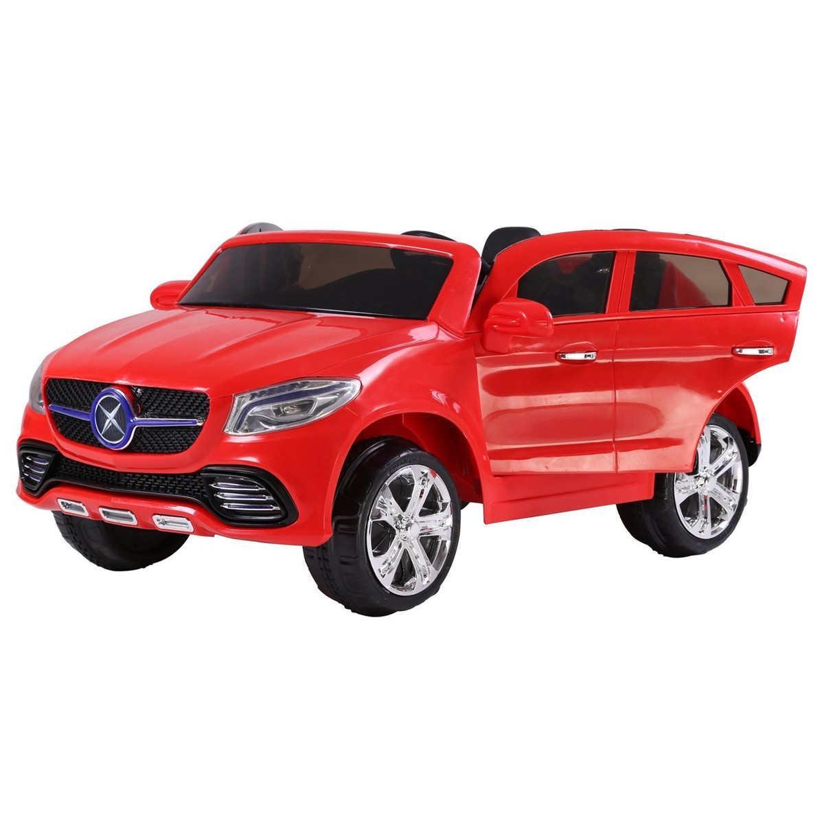 mercedes style kids ride on twin seat 24v electric car red