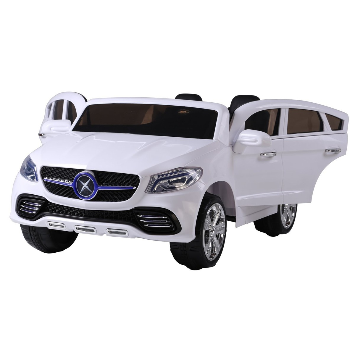 mercedes style twin seat 24v kids electric car white