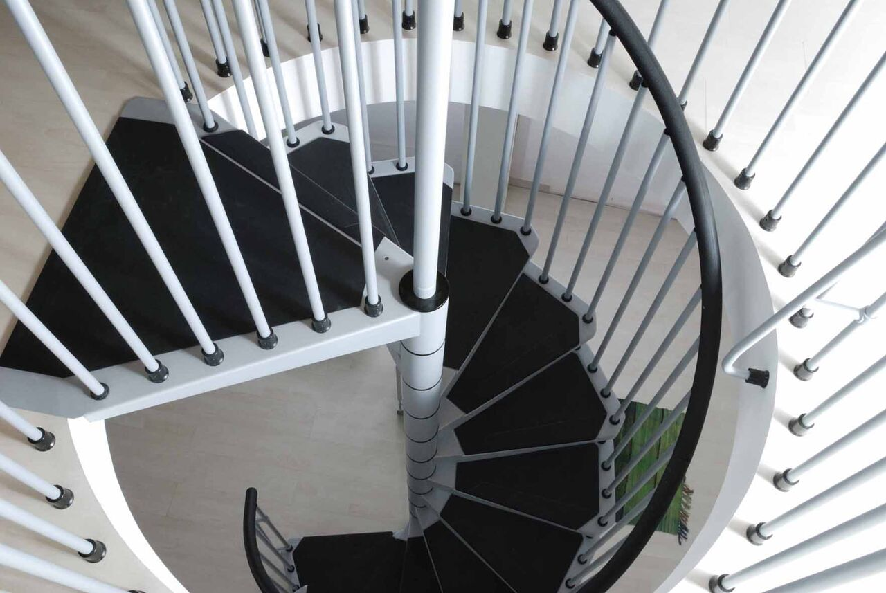 arke fontanot civik spiral staircase diy stair kit 120 140. Black Bedroom Furniture Sets. Home Design Ideas