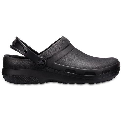 Crocs Specialist II pour Homme Femme Noir Medical chef Travail Sabots vegan chaussures taille